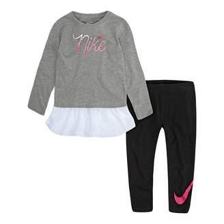 Nike Toddler Girl Mesh-Hem Tunic & Logo Leggings Set