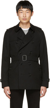 Burberry Black Sandringham Short Trench Coat $1,695 thestylecure.com