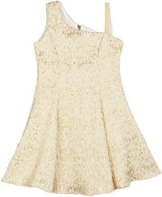 Zoe Megan Metallic Jacquard Fit-and-Flare Dress, Size 7-16