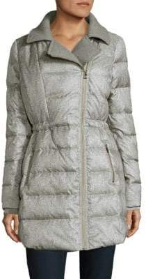 Catherine Malandrino Faux Fur-Trimmed Puffer Jacket