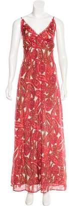 La Robe Silk-Blend Maxi Dress w/ Tags