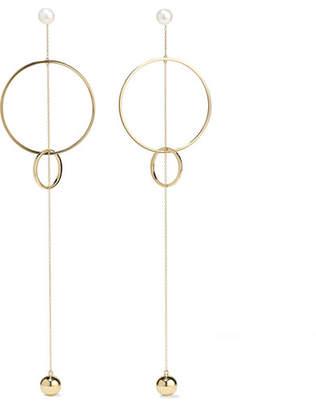 Mateo - 14-karat Gold Pearl Earrings