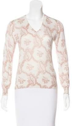 Dries Van Noten Paisley Print V-Neck Sweater
