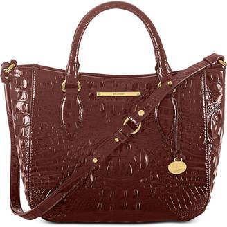 Brahmin Small Lena Melbourne Embossed Leather Satchel