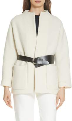 BA&SH Clif Belted Wool Coat