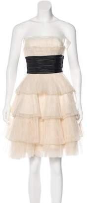Betsey Johnson Pleated Strapless Dress