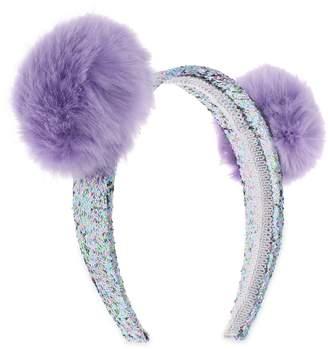 Capelli New York Pom Glitter Headband
