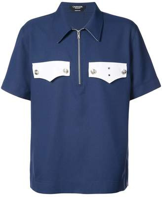Calvin Klein zip fastened polo shirt