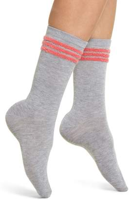 Make + Model Eyelash Stripe Crew Socks