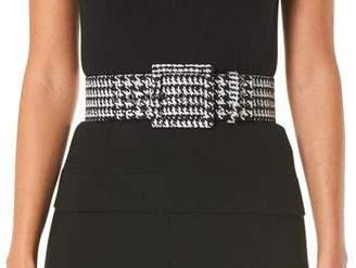 Carolina Herrera Houndstooth Square-Buckle Belt