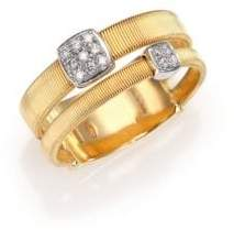 Marco Bicego Masai Diamond, 18K Yellow Gold& 18K White Gold Station Ring