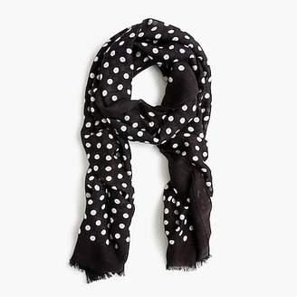 J.Crew Polka-dot midseason scarf