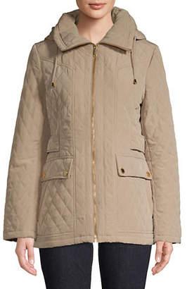 London Fog Diamond Quilted Full-Zip Jacket
