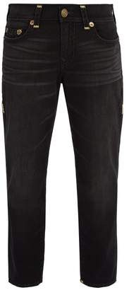 True Religion Contrast Stitched Jeans - Mens - Black