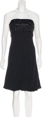Giorgio Armani Embellished Strapless Dress