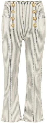 Balmain High-rise cropped jeans