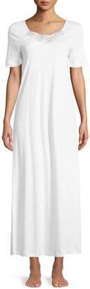 Hanro Jana Short-Sleeve Long Nightgown