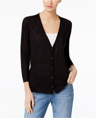 Eileen Fisher Silk & Organic Linen V-Neck Cardigan $248 thestylecure.com