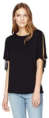 Velvet by Graham & Spencer Women's Modal Knit Tie Sleeve Top