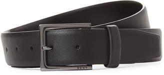 DKNY Faux Saffiano Leather Flex Belt