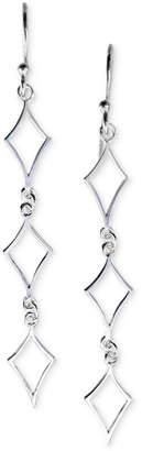 Unwritten Openwork Link Drop Earrings in Sterling Silver
