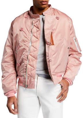 HUMAN MADE Men's Satin Zip-Front Flight Jacket