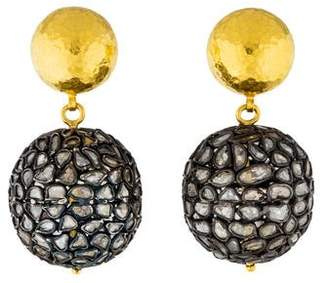 Gurhan Bold Pastiche Diamond Slice Drop Earrings