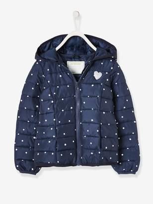 Vertbaudet Light Padded Jacket with Hood, for Girls