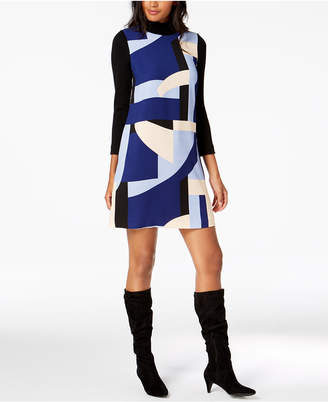 Marella Printed Turtleneck Dress