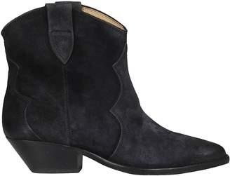 Isabel Marant Velvet Washed Santiago Boots