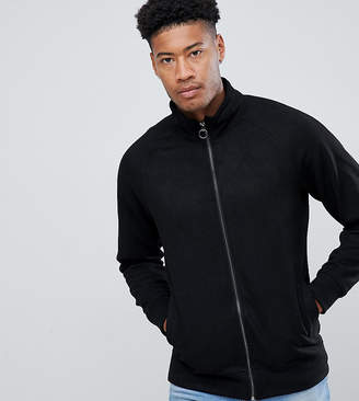 Jacamo Faux Suede Funnel Neck Jacket