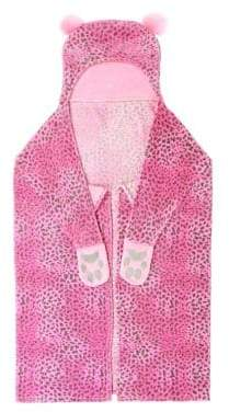 Capelli New York Baby Girl's Cheetah Hooded Throw Blanket