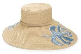 Eric Javits Embroidered Leaf Sun Hat