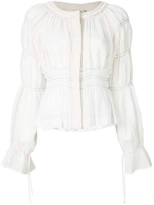 Altuzarra tiered sleeve cropped jacket