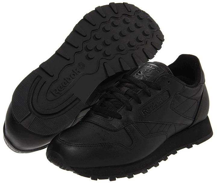Reebok Classic Leather CTM (Black/Black/Black) - Footwear