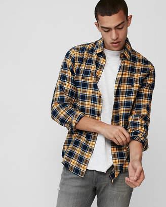 Express Slim Flannel Lightweight Shirt