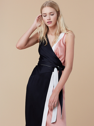 Color-blocked Wrap Dress $448 thestylecure.com