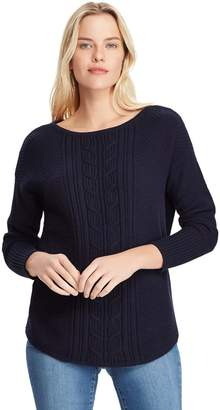 Chaps Women's Textured Cable-Knit Sweater