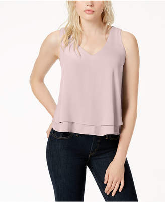 Bar III Layered-Hem Tank Top