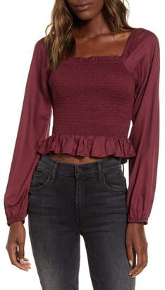 Angie Smocked Crop Top