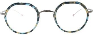 Thom Browne Eyewear round tortoise-shell glasses