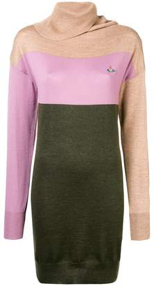 Vivienne Westwood panelled roll neck sweater dress
