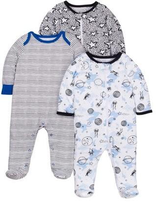 4587beb74 N. Little Star Organic 100% Organic Cotton Sleep 'N Play Pajamas, 3