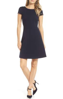 Harper Rose Cap Sleeve Fit & Flare Dress
