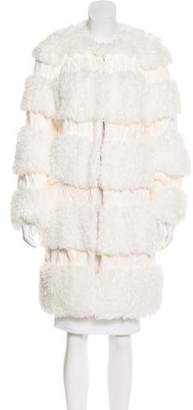 Anna Sui Textured Knee-Length Coat