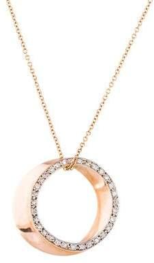 Alex Woo 14K Diamond Circle Pendant Necklace
