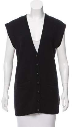 Ralph Lauren Sleeveless Wool-Blend Cardigan