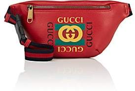 Gucci Men's Logo Small Leather Belt Bag - Red