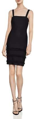BCBGMAXAZRIA Fringe-Trim Body-Con Dress