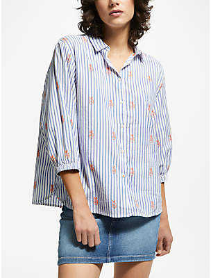 Lee Bell Sleeve Stripe Shirt, Sky Blue